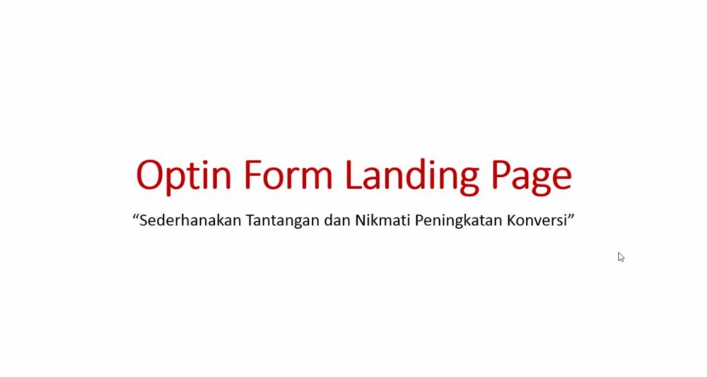 Video 4 Optin form landing page