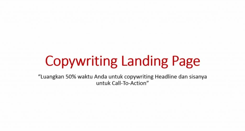 Video 5 Copywriting Landing Page